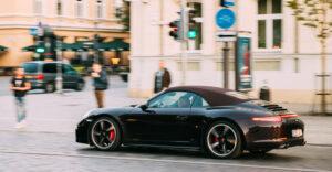 Black Porsche Car